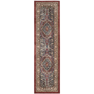 Isanotski Oriental Brown Area Rug Rug Size: Runner 23 x 12