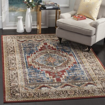 Isanotski Oriental Brown Area Rug Rug Size: Square 67