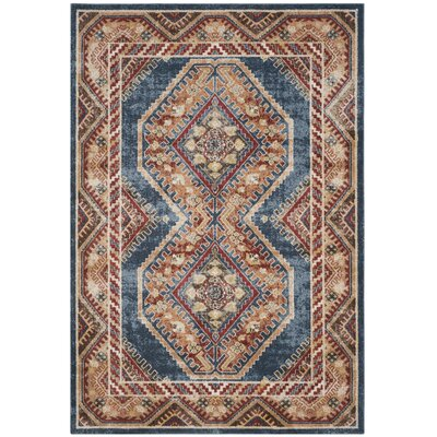Isanotski Red/Blue Area Rug Rug Size: Rectangle 10 x 14