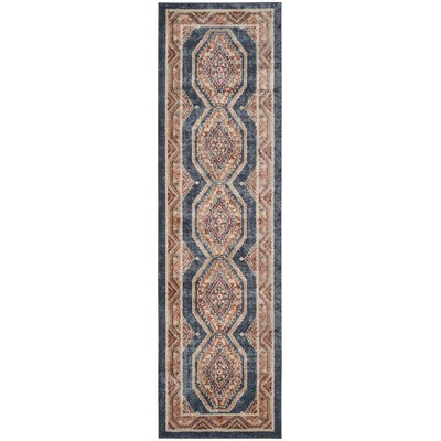 Isanotski Red/Blue Area Rug Rug Size: Runner 23 x 10