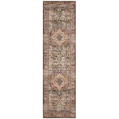 Broomhedge Brown/Rust Area Rug Rug Size: Runner 23 x 10