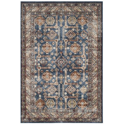 Isanotski Brown/Blue Area Rug Rug Size: Rectangle 10 x 14