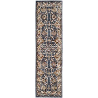 Isanotski Brown/Blue Area Rug Rug Size: Runner 23 x 10