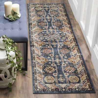 Isanotski Brown/Blue Area Rug Rug Size: Runner 23 x 6