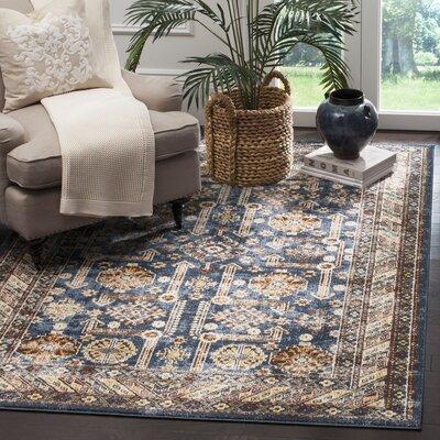 Isanotski Brown/Blue Area Rug Rug Size: 11 x 15