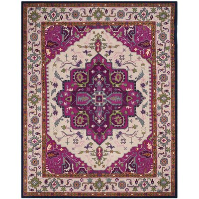 Blokzijl Hand-Tufted Wool Purple Area Rug Rug Size: 10' x 14'