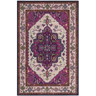 Blokzijl Hand-Tufted Wool Purple Area Rug Rug Size: 2' x 3'