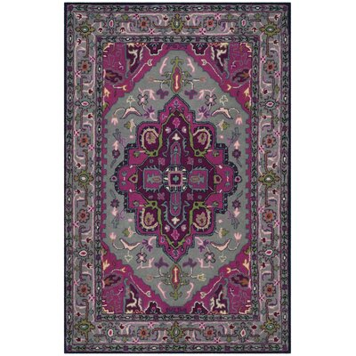 Blokzijl Hand-Tufted Wool Gray Area Rug Rug Size: 2 x 3