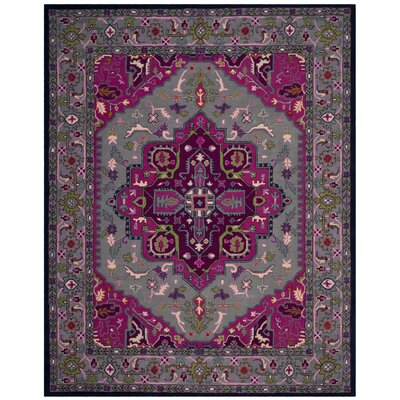 Blokzijl Hand-Tufted Wool Gray Area Rug Rug Size: 9 x 12