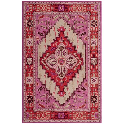 Blokzijl Hand-Tufted Wool Red Area Rug Rug Size: Rectangle 2 x 3