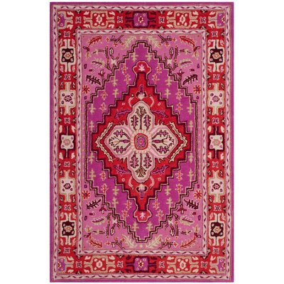 Blokzijl Hand-Tufted Wool Red Area Rug Rug Size: Rectangle 3 x 2