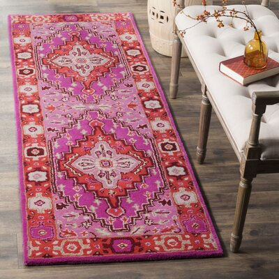 Blokzijl Hand-Tufted Wool Red Area Rug Rug Size: Runner 23 x 11