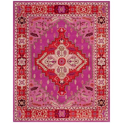 Blokzijl Hand-Tufted Wool Red Area Rug Rug Size: Rectangle 9 x 12