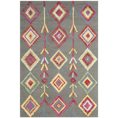 Blokzijl Hand-Tufted Wool Dark Gray Area Rug Rug Size: 2 x 3