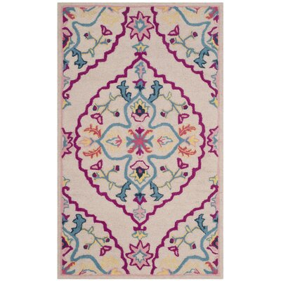 Blokzijl Hand-Tufted Wool Purple/Pink Area Rug Rug Size: Rectangle 4 x 6
