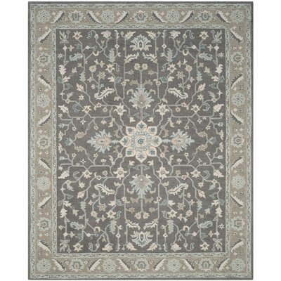 Kilbourne Hand-Tufted Wool Dark Gray Area Rug Rug Size: Rectangle 10 x 14