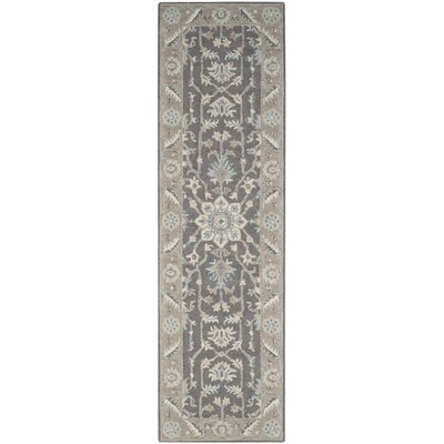 Kilbourne Hand-Tufted Wool Dark Gray Area Rug Rug Size: Runner 23 x 12