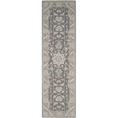 Kilbourne Hand-Tufted Wool Dark Gray Area Rug Rug Size: Runner 23 x 12