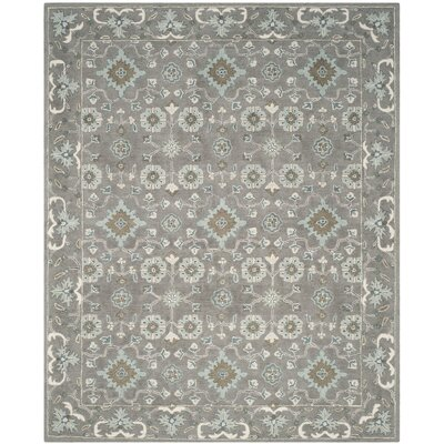 Kilbourne Hand-Tufted Wool Gray Area Rug Rug Size: 10 x 14