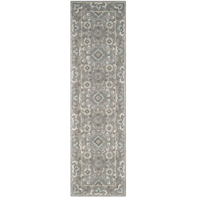 Kilbourne Hand-Tufted Gray Area Rug Rug Size: Runner 23 x 12