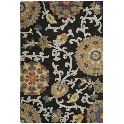 Mudoch Hand-Tufted Wool Charcoal Area Rug Rug Size: 2 x 3