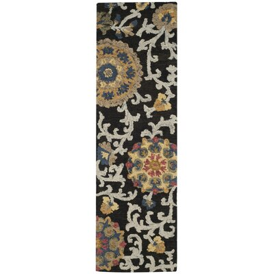 Mudoch Hand-Tufted Wool Charcoal Area Rug Rug Size: Runner 23 x 10