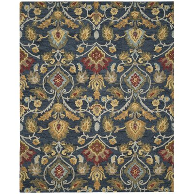 Elford Hand-Tufted Wool Blue/Red/Green Area Rug Rug Size: Rectangle 10' x 14'