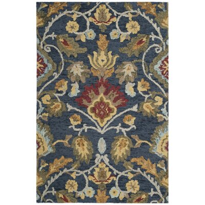 Elford Hand-Tufted Wool Blue/Red/Green Area Rug Rug Size: Rectangle 2 x 3