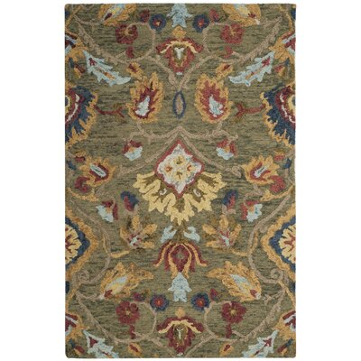 Elford Hand-Tufted Wool Green Area Rug Rug Size: Runner 23 x 12