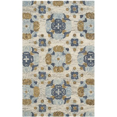 Mudoch Hand-Tufted Wool Beige Area Rug Rug Size: Square 6