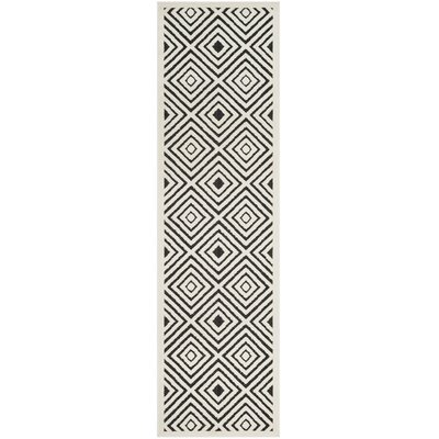 Woodford Cream/Anthracite Indoor/Outdoor Area Rug Rug Size: Runner 23 x 8