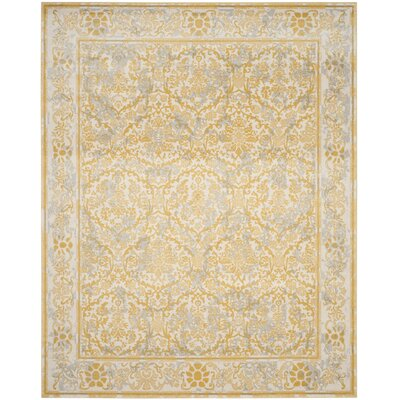 Montelimar Ivory/Gold Area Rug Rug Size: Rectangle 11 x 15