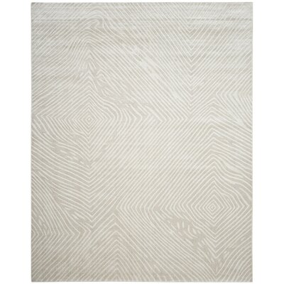 Moorhouse Hand-Woven Beige/Gray Area Rug Rug Size: Rectangle 9 x 12