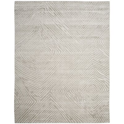 Moorhouse Hand-Woven Light Gray Area Rug Rug Size: Rectangle 9 x 12