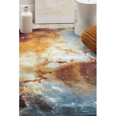 Orange Abstract Area Rug Rug Size: Rectangle 67 x 9