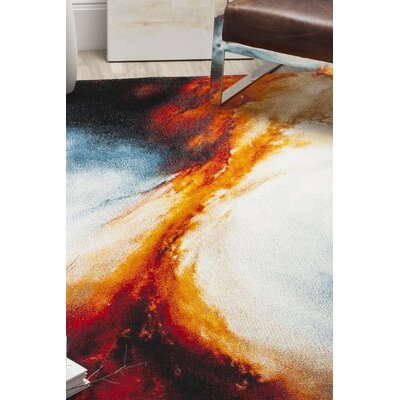 Emerson Orange Area Rug Rug Size: 4 x 6