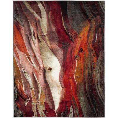 Glacier Red Area Rug Rug Size: Rectangle 9 x 12