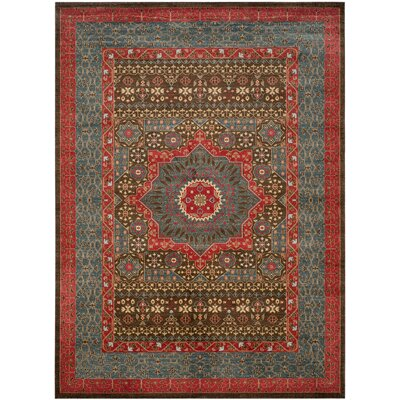 Freetown Red Area Rug Rug Size: Rectangle 12 x 18