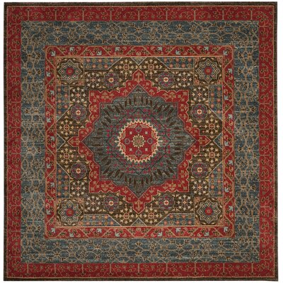 Freetown Red Area Rug Rug Size: Square 51