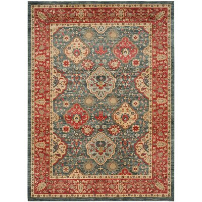 Alto Red/Blue Area Rug Rug Size: Rectangle 12 x 18