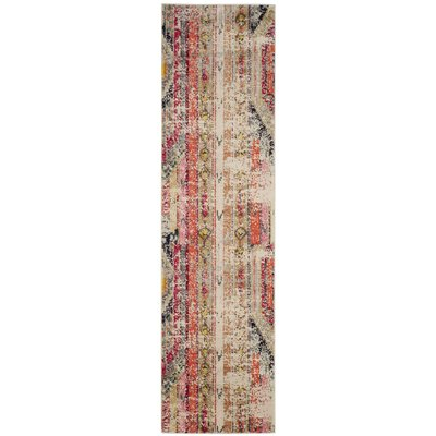 Elston Abstract Multicolor Area Rug Rug Size: Runner 2'2