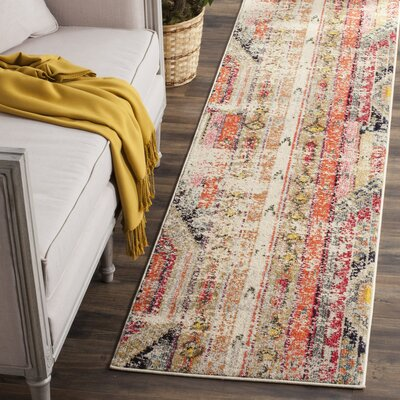 Elston Abstract Multicolor Area Rug Rug Size: Runner 22 x 22