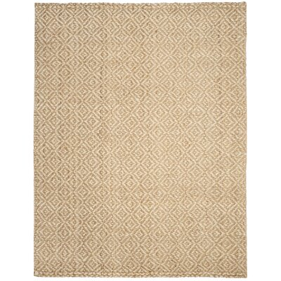 Miliou Hand-Woven Ivory/Natural Area Rug Rug Size: Rectangle 10 x 14