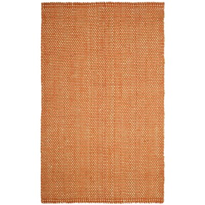 Stantonsburg Hand-Woven Rust/Natural Area Rug Rug Size: Rectangle 10 x 14