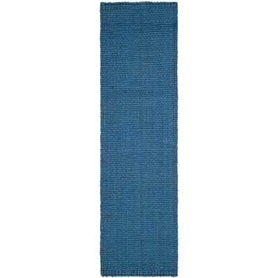 Emery Hand-Woven Blue Area Rug Rug Size: Runner 23 x 10