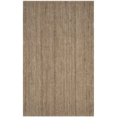 Emery Hand-Woven Brown Area Rug Rug Size: 11 x 15