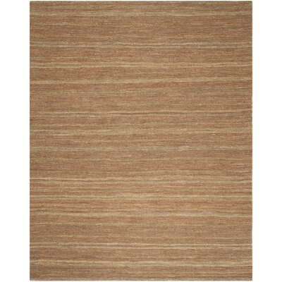 Costakes Hand-Knotted Brown Area Rug