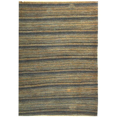 Costakes Hand-Knotted Brown/Blue Area Rug