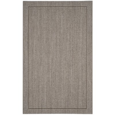 Fiske Solid Sisal Silver Area Rug Rug Size: Rectangle 4 x 6