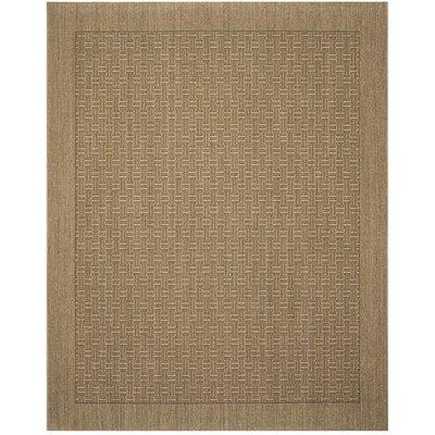 Girard Brown/Tan Area Rug Rug Size: Rectangle 8 x 10